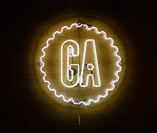 GA neon sign photo